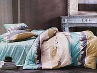Комплект постельного белья евро двуспальный полисатин Elway EW083 бирюзовый