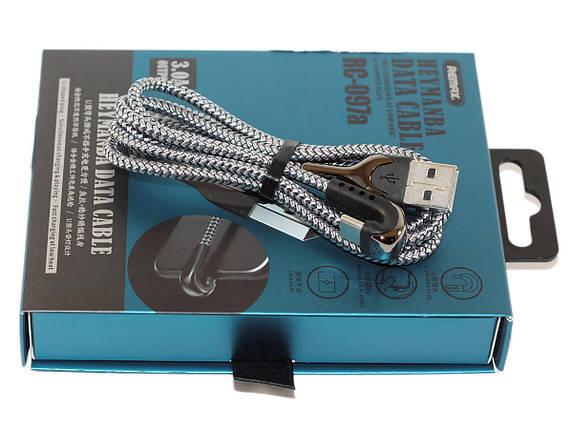 Кабель USB Type C, Remax 'Series Gaming Cable', серебристый, 1 метр, 3.0A (RC-097a), фото 2