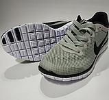 Кроссовки Nike(размер 36-37) женские сетка серые, черные, синие, фото 8