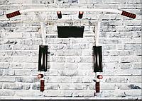 Турник брусья SAB-Building  4 в 1 разборной белый, черный