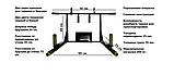 Турник брусья SAB-Building 4 в 1 c упором для пресса разборной усиленный черный, белый, фото 4