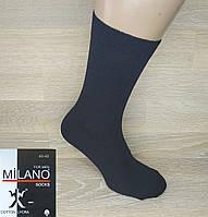 """Мужские классические носки """"Milano"""". Однотонные. Черный цвет., фото 1"""
