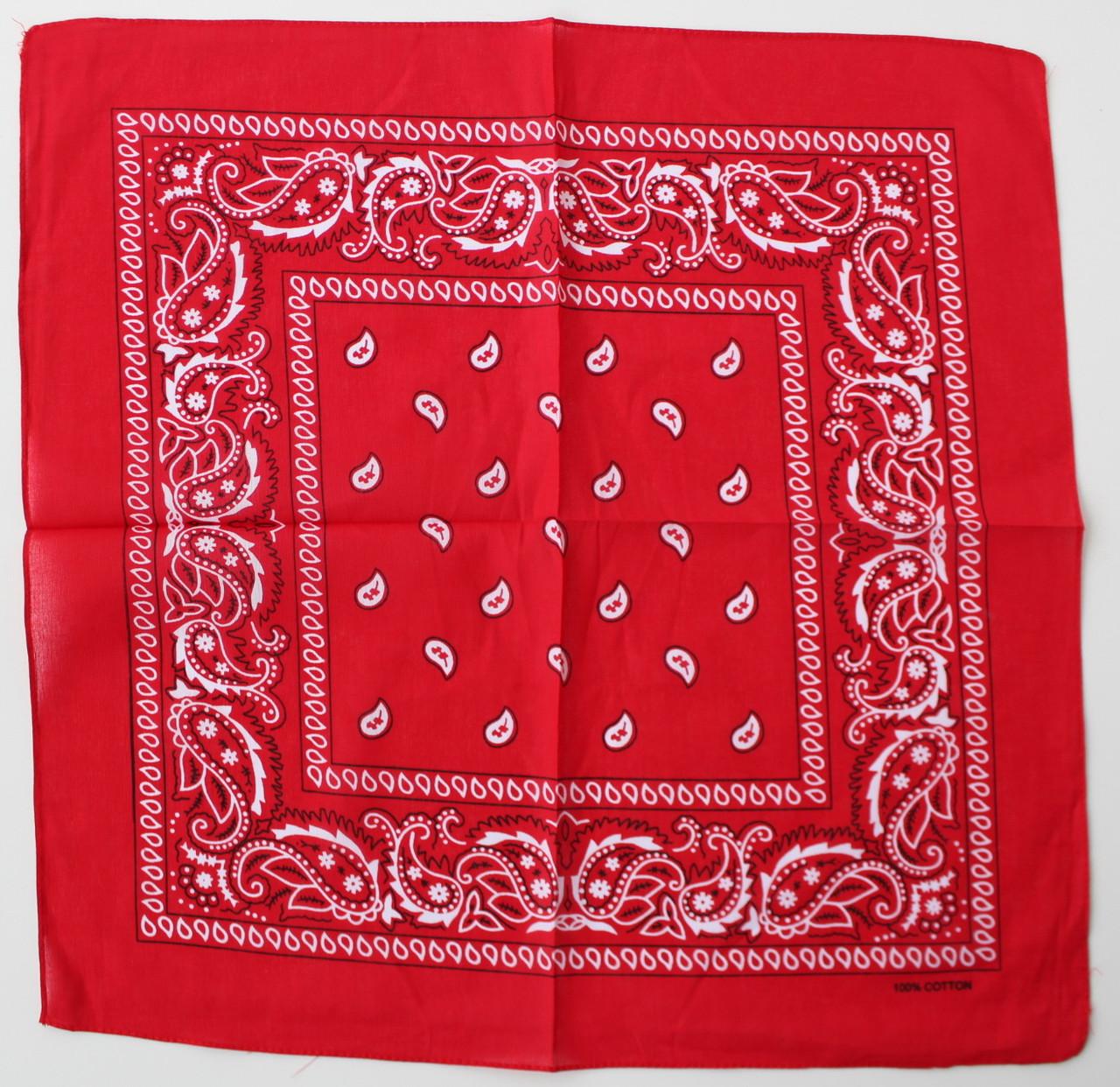 Бандана красная из коттона 235013