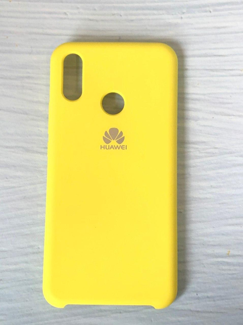 "Чехол Huawei P Smart Plus ""Желтый №4"" Silicon Case"