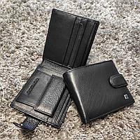Тонкий кожаный кошелек портмоне для мужчин