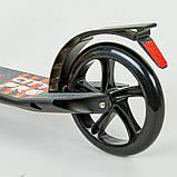 Двухколесный й Самокат с амортизатором складной черный XINZ SCOOTER CITY PRO XZ-122, фото 7