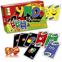 """Игровой комплект """"Уно+"""", 15 игр - Мастер"""
