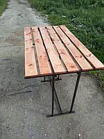 Стол садовый металлический 800*800*1450