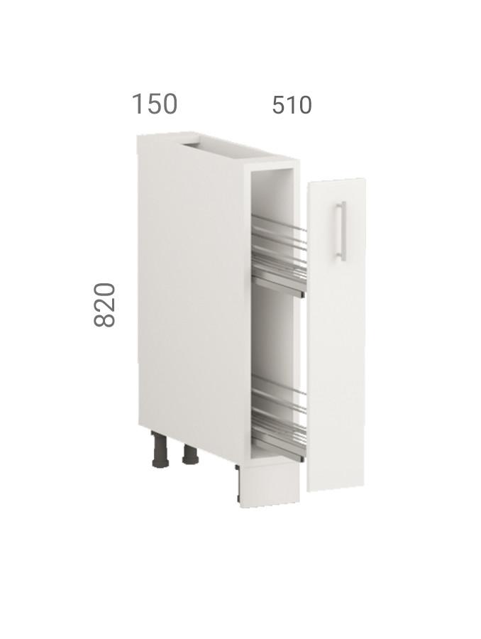 Тумба кухонна (модуль) карго з фасадом з пластику на основі МДФ (15х51х82 см)