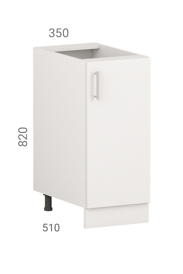 Кухонная тумба (модуль) со створчатым фасадом из пластика на основе МДФ (35х51х82 см)