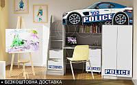 Кровать чердак ПОЛИЦИЯ Бренд 2150х1800х836, фото 1