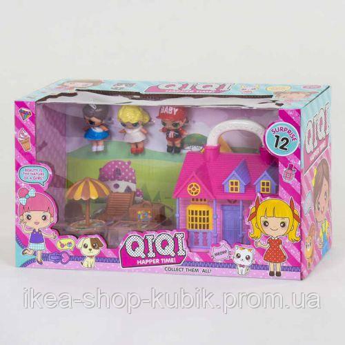 Будиночок з ляльками ТМ 736 У 3 ляльки, меблі, в коробці в магазині chichome