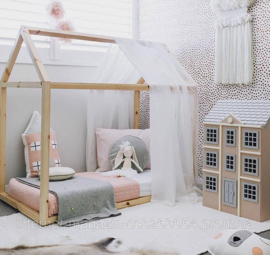 Детская подростковая кровать Домик 190см / 90 см ,Чердак кровать,двухъярусная кровать