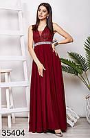 Вечернее длинное платье с гипюром и пайетками 42-54
