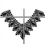 Воротник кружевной нашивной черный, фото 2
