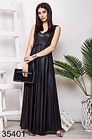 Вечернее блестящее длинное платье без рукавов 42-44, 44-46, 48-50, 50-52