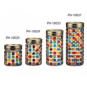 Банка для сыпучих 2,2л  Peterhof (стекло) PH10037