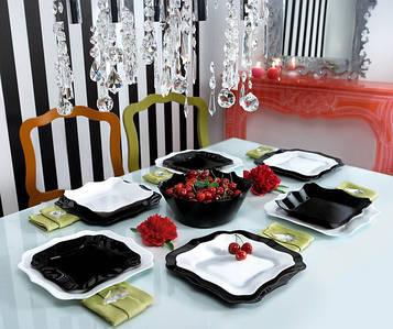 Столовый сервиз Luminarc Authentic Black&White 19 предметов на 6 персон
