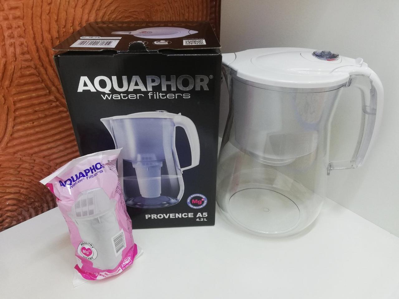 Фільтр-глечик Аквафор Прованс (білий) 4,2л для очищення водопровідної води