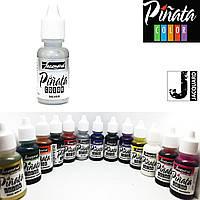 "Спиртовые чернила ""Jacquard Pinata"" пр-во США, 15 мл, металлик серебро 1033"