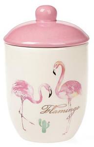 """Банка керамическая """"Розовый Фламинго"""" 500мл"""