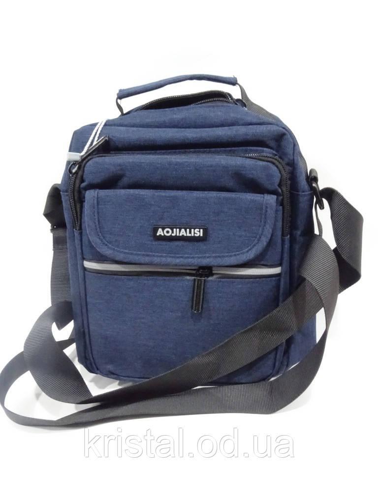 "Чоловіча текстильна сумка на плече 20*24 див. серії ""Gold"" №4087"