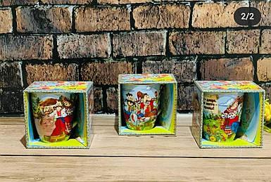 """Чашка фарфоровая 325мл """"Украинская семья""""в подарочной коробке (6 видов)"""