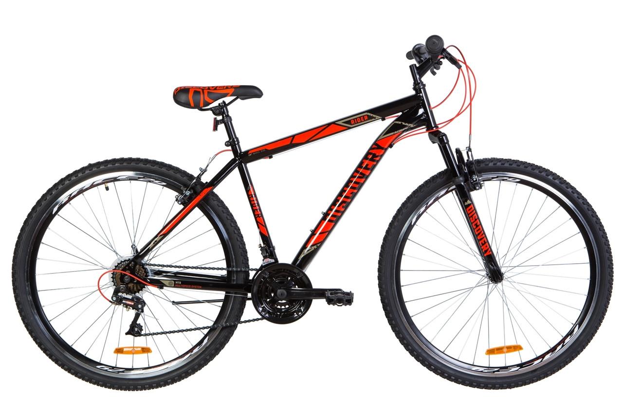 """Велосипед горный 29"""" Discovery Rider AM Vbr 2020 черно-красный"""