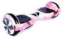 Гироборд 6,5 дюймов + ПОДАРОК . Smart Balance Гироскутер Сигвей Цвет - Розовый камуфляж полная комплектация