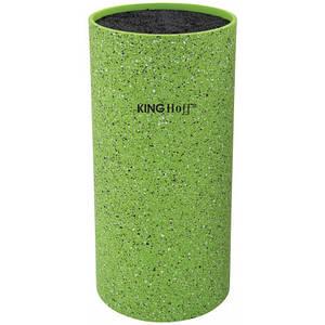 Универсальная колода подставка для ножей зеленая 11*22см KingHoff  KH1094