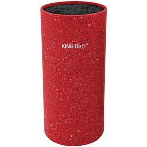 Универсальная колода подставка для кухонных ножей красная 11*22см KingHoff  KH1093