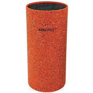 Универсальная колода подставка для кухонных ножей оранжевая 11*22см KingHoff  KH1120