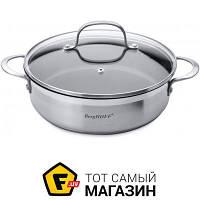 Круглая сковорода сотейник «Berghoff» (Bistro 24см (1100093)) — подходит для газовых плит, для галогеновых плит, для индукционных плит, для
