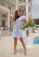 Платье женское большой размер лён 515A-15,8 (50-52, 54-56, 58) (цвета: полоска) СП