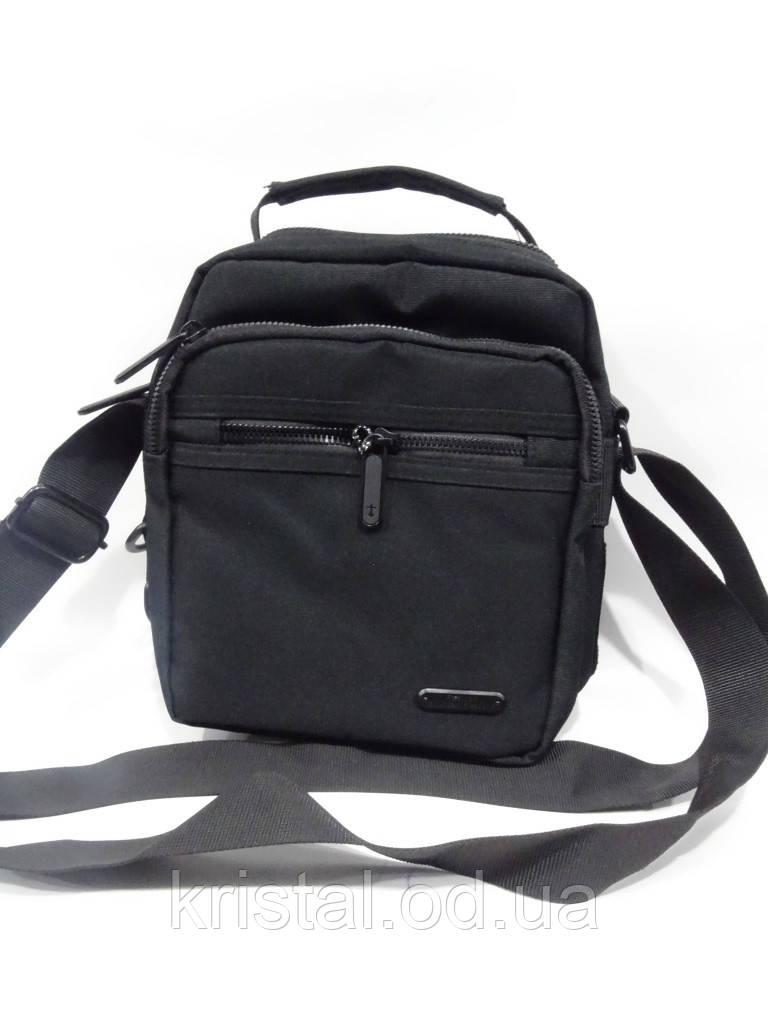 "Чоловіча текстильна сумка на плече 19*24 див. серії ""Gold"" №4107"