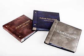 Альбом для монет и банкнот Комби 220 ячеек со скользящими листами