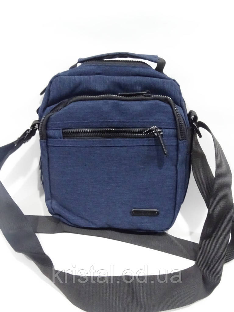 "Чоловіча текстильна сумка на плече 19*24 див. серії ""Gold"" №4108"