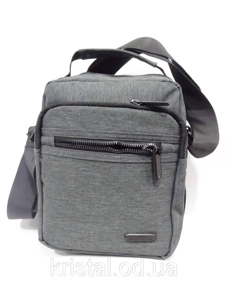 "Чоловіча текстильна сумка на плече 19*24 див. серії ""Gold"" №4109"