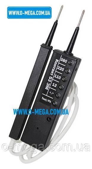 Универсальный пробник электрика Контакт 53ЭМ. Указатель напряжения со световой и звуковой индикацией.