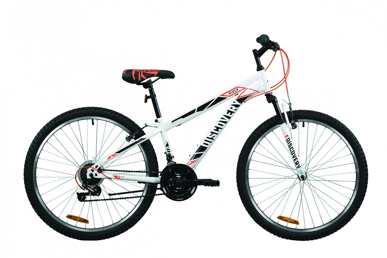 """Велосипед горный 26"""" Discovery Rider AM Vbr 2020 бело-красный с серым, 13"""""""