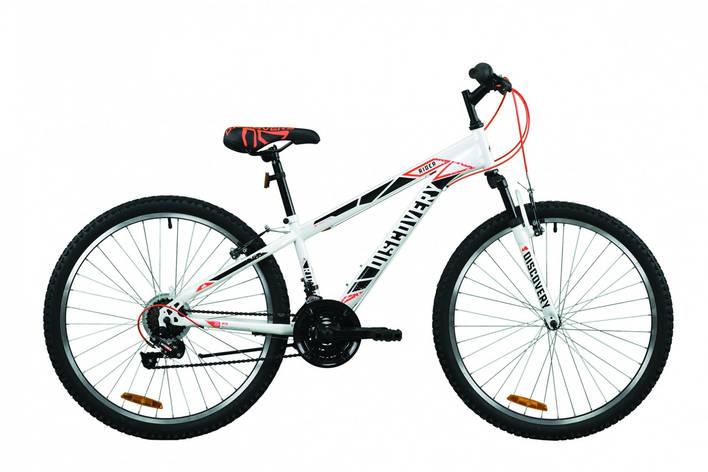 """Велосипед горный 26"""" Discovery Rider AM Vbr 2020 бело-красный с серым, 13"""", фото 2"""