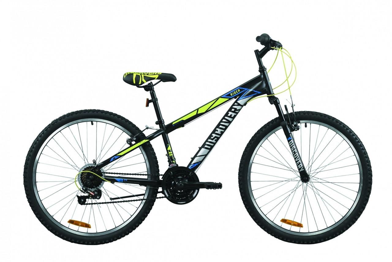 """Велосипед горный 26"""" Discovery Rider AM Vbr 2020 черно-салатно-серый, 13"""""""