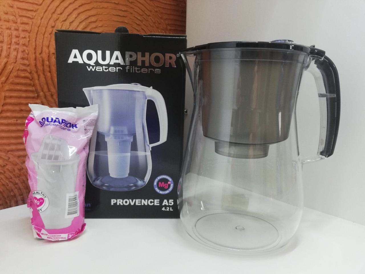 Фільтр-глечик Аквафор Прованс (чорний) 4,2л для очищення водопровідної води