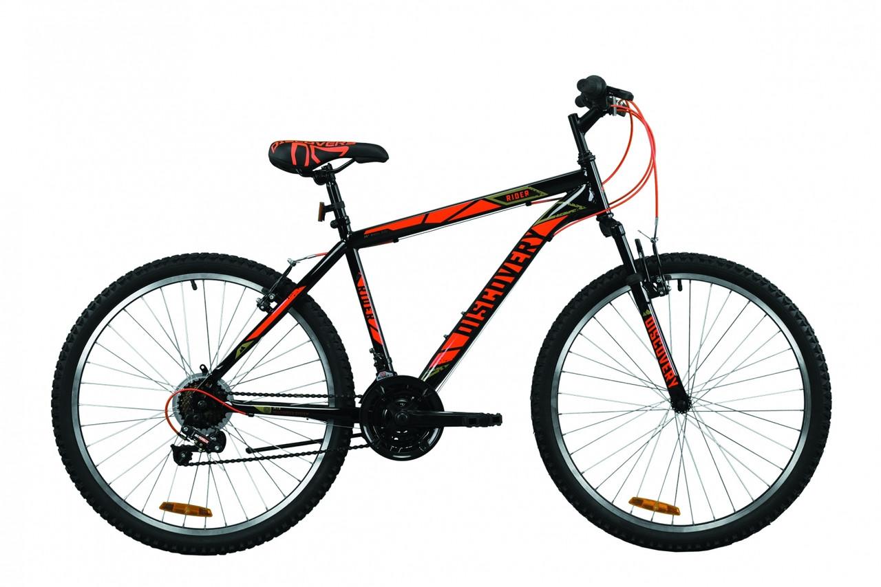 """Велосипед горный 26"""" Discovery Rider AM Vbr 2020 черно-красный, 18"""""""