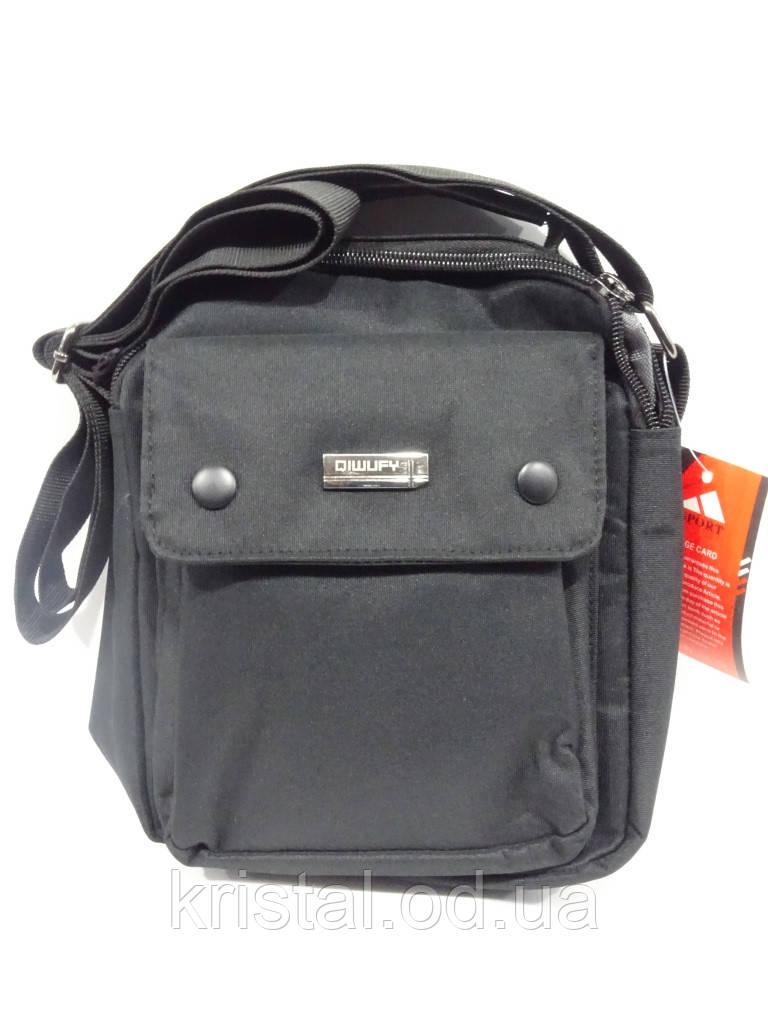 "Чоловіча текстильна сумка на плече 18*24 див. серії ""Gold"" №4124"