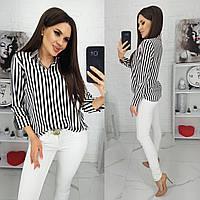 Женская рубашка в полоску,,женские рубашки, фото 1