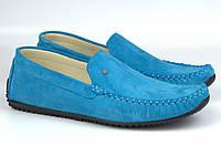 Rosso Avangard Alberto Turq бірюзові замшеві мокасини річна взуття повсякденне чоловіче, фото 1