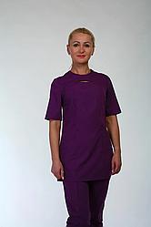 Медицинский костюм фиолетового цвета