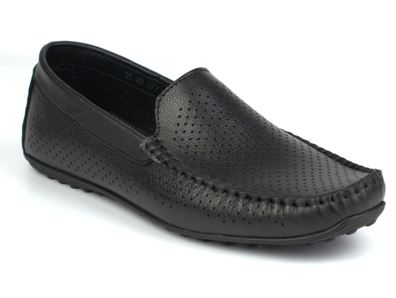 Rosso Avangard M4 Black Flotar Perf мягкие черные мокасины кожаные летняя мужская обувь в перфорацию сетка