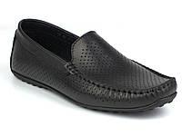 Rosso Avangard M4 Black Flotar Perf мягкие черные мокасины кожаные летняя мужская обувь в перфорацию сетка, фото 1